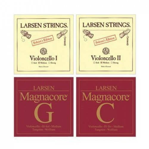 Larsen Magnacore Soloist 4/4 Cello String Set - Medium