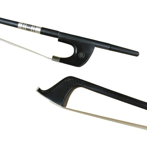 Carbon Fiber upright Bass Bow with Ebony Frog German Style