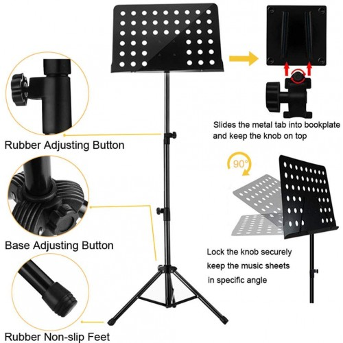 Maestro Extra Durable Metal Music Note Stand Orchestra Heavy Duty