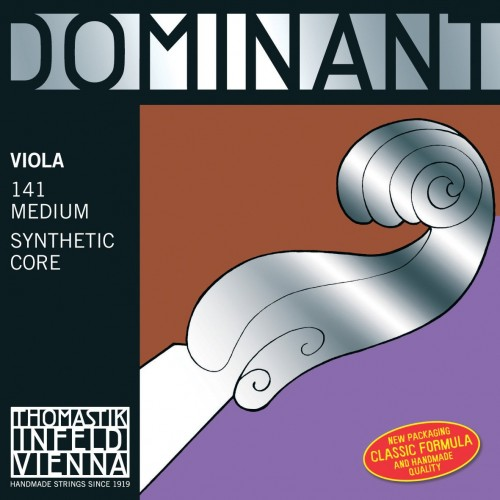 Thomastik-Infeld 141 Dominant Synthetic Core Viola Strings, Medium Gauge, 4/4 Scale, Set of 4