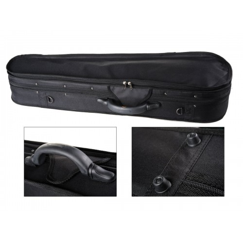 4/4 Full Size Basic Professional Triangular Shape Super Light Suspension Violin Hard Case