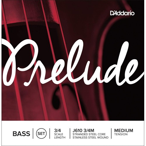 D'Addario Prelude Series Double Bass String Set 3/4,1/2,1/4,1/8  Size